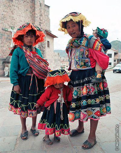 Los estilos de ropa tradicional en Peru