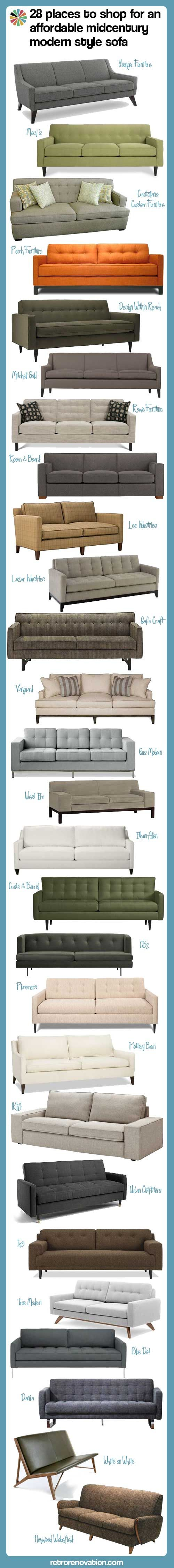 28 Locations To Buy An Reasonably Priced Midcentury Trendy Type Couch – I LOVE This S…