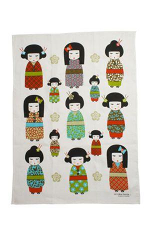 Kimono  Linen Tea Towel Super Absorbent Annabel Trends