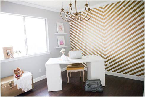 That WALL! Shalyn Nelson's home office featured on MadeByGirl