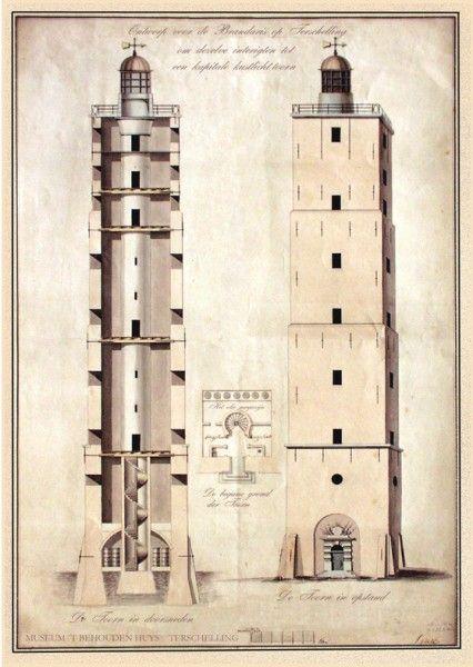 De huidige toren stamt uit 1594. In 1837 werd de Brandaris de eerste Nederlandse vuurtoren met een draaiende Fresnellens. Elektrificatie volgde in 1907. De lamp met elektrische aandrijving werd in 1920 geïnstalleerd. In 1977 kreeg de vuurtoren een lift. In 1994 werd het 400-jarig bestaan van de toren gevierd. Het licht is nu volkomen automatisch.