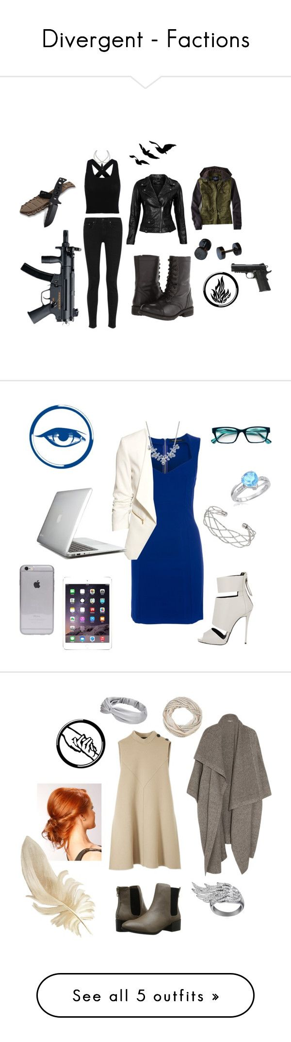 """Divergent - Factions"" by redheartqueen ❤ liked on Polyvore featuring rag & bone, VIPARO, American Eagle Outfitters, Steve Madden, French Connection, Giuseppe Zanotti, H&M, Wallis, Givenchy and Corinne McCormack"