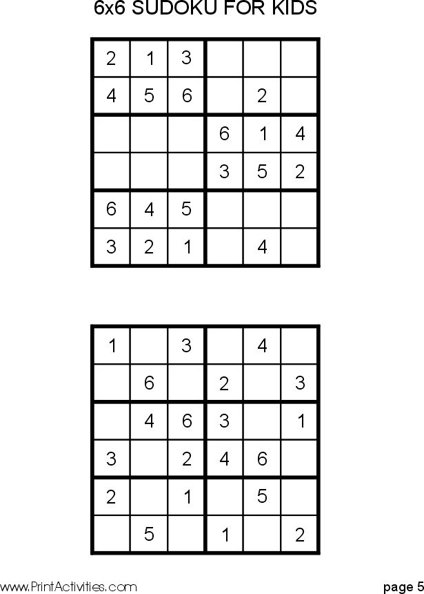 It is a photo of Adaptable Sudoku for Kids Printable