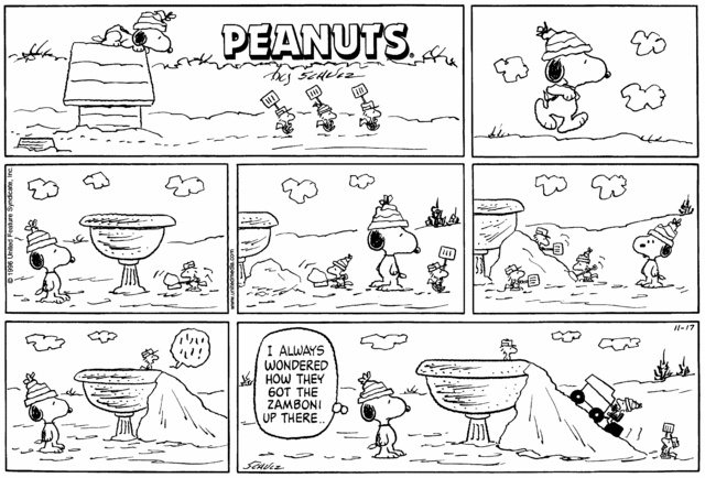 Image detail for -254409.full Day 14: Every Peanuts Strip Featuring a Zamboni