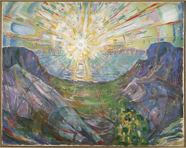 "Edvard Munch's painting ""The Sun,"" 1910-1913. Photo: Oslo Munch Museet/Center Pompidou via the Guardian"