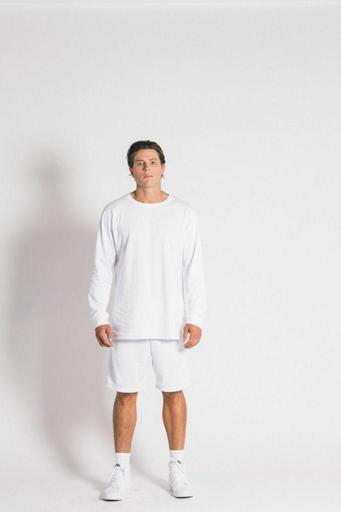 Ystrdaybone - Mesh White Long Sleeve T