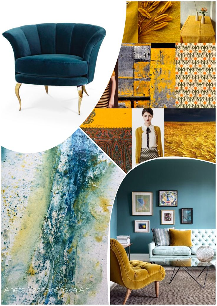 Home trends 2017 hottest colours: petrol & mustard #hometrends2017 #colours2017 #hometrnds