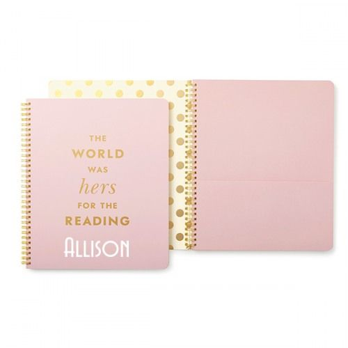 the options are endless for you, my dear. this notebook from kate spad...