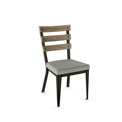 Dexter Dining Chair - The Dexter dinign chair, stark lines, slatted back with exposed screws hit all the right style marks.