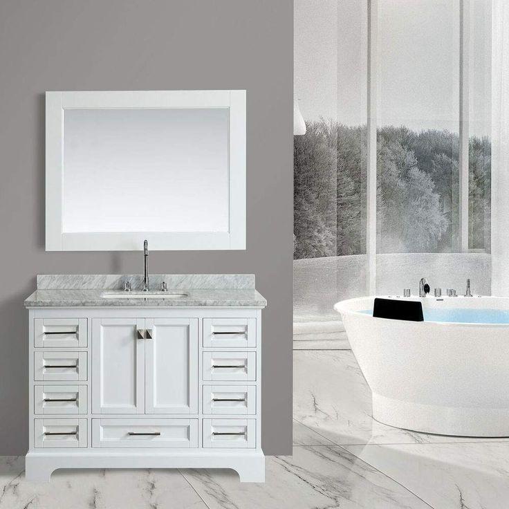 Design Element DEC068C-W 48-inch Bathroom Vanity Combo Set ...