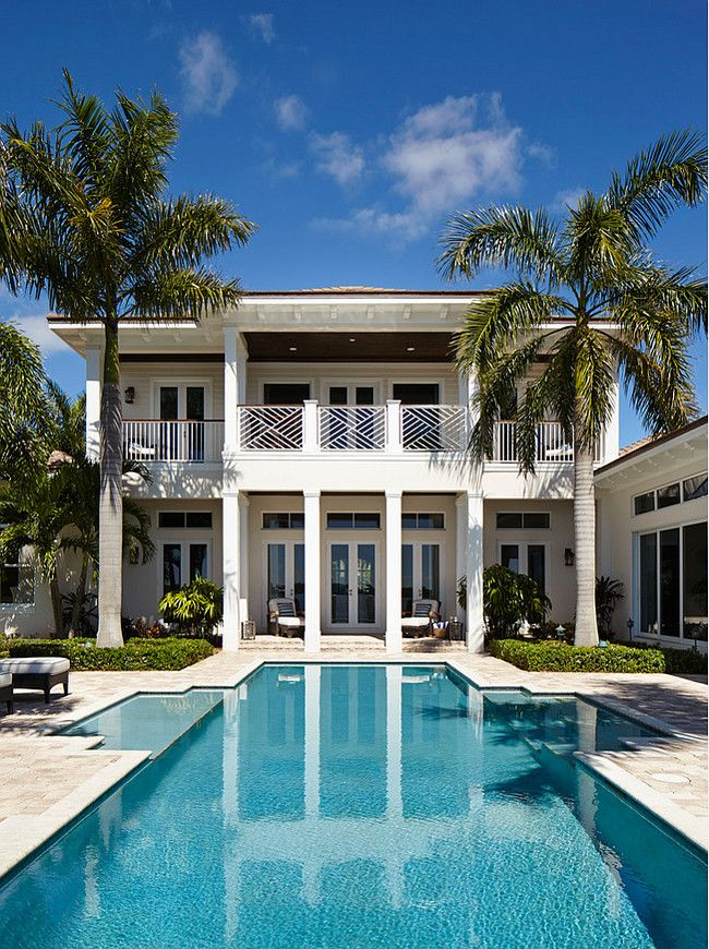 Florida beach house with classic coastal interiors beach for Beach villa design ideas