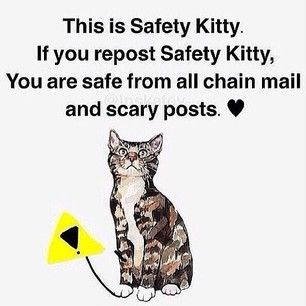 "Keep safe from all those dumb ""repost or else"" chain posts"