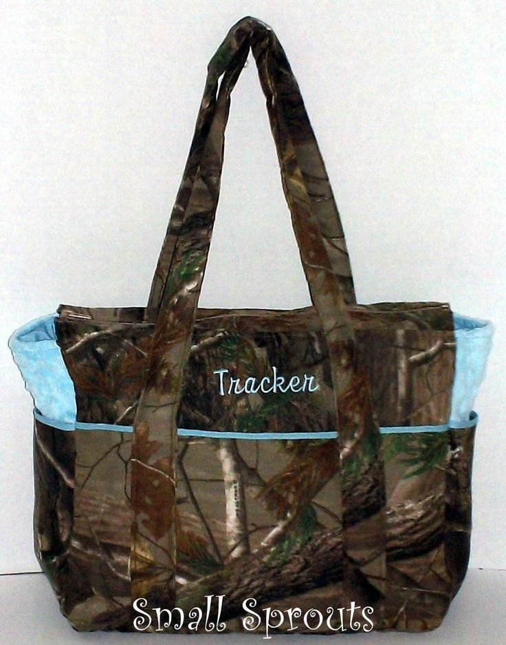 camo baby bags | Real Tree AP Camo Light Blue Fancy Diaper Bag