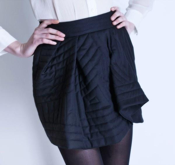 Michel Klein Black Short skirt #luxury #modewalk