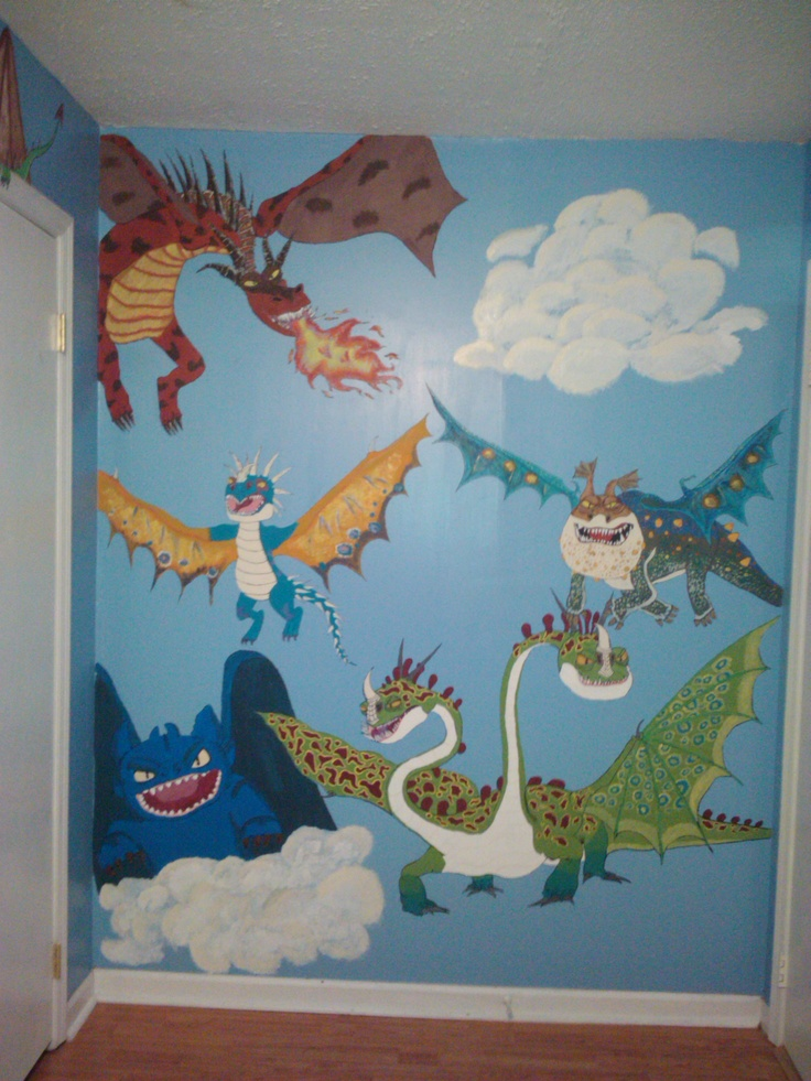 29 best images about dragon mural ideas on pinterest for Dragon wall mural