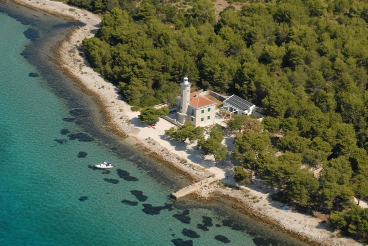 Luxurious lighthouse Villa Lanterna on island Vir in Dalmatia, Croatia