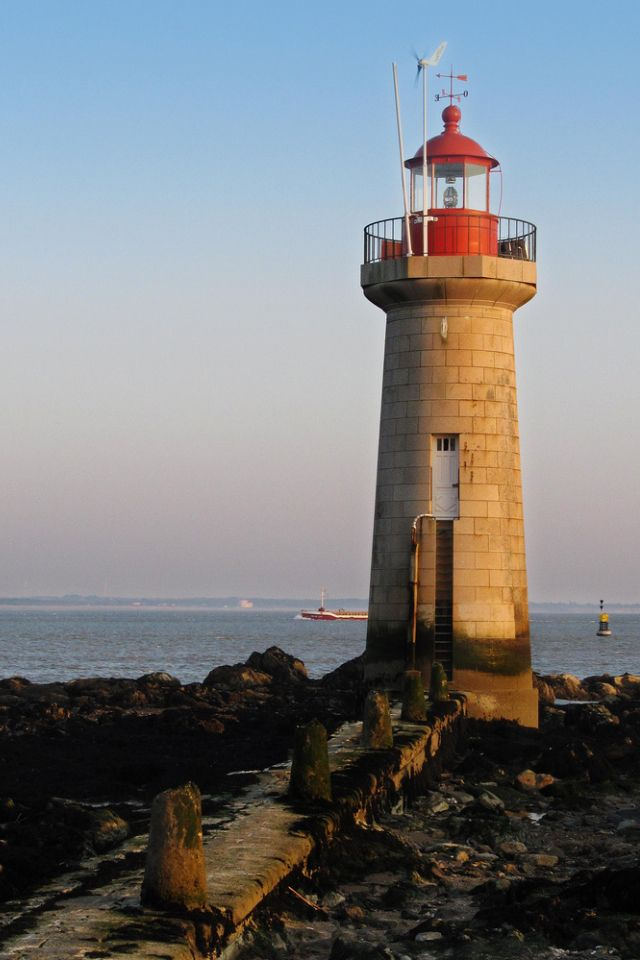 St. Nazaire Harbour Lighthouse- by Andy Mac 2010