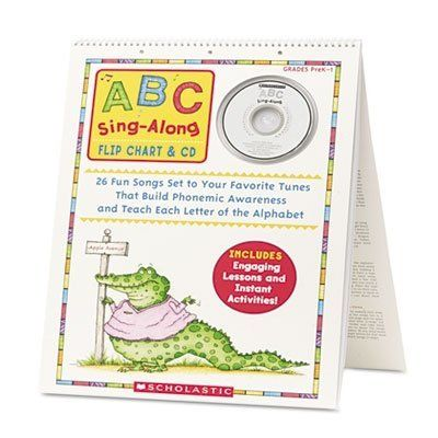 "Scholastic ABC Sing Along Flip Chart & CD by Scholastic. Save 30 Off!. $17.42. PreK-1. Learning the ABCs is a joy with this BIG, laminated flip chart featuring an easy-to-learn song for each letter of the alphabet! Turn to this sturdy, colorful resource every day to teach phonemic awareness, letter recognition, early reading skills, and more! Includes eye - catching illustrations, ready-to-go lesson plans, instant letter activities, PLUS all 26 songs on CD. Approximately 20""H x 15""W."