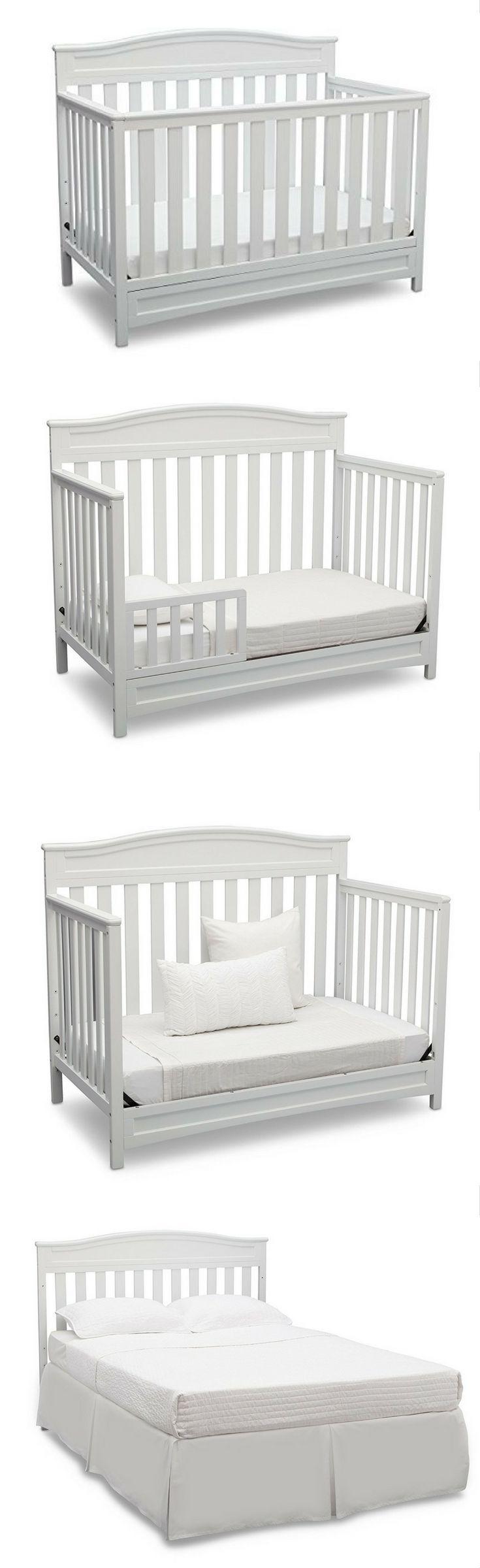 Delta Children Emery 4-in-1 Crib, White  #Affiliate