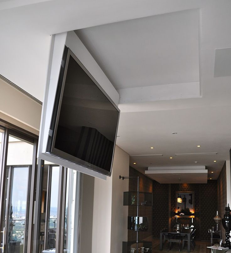 Image Result For Drop Down Tv From Ceiling Tv In Bedroom Home Theater Rooms Hidden Tv
