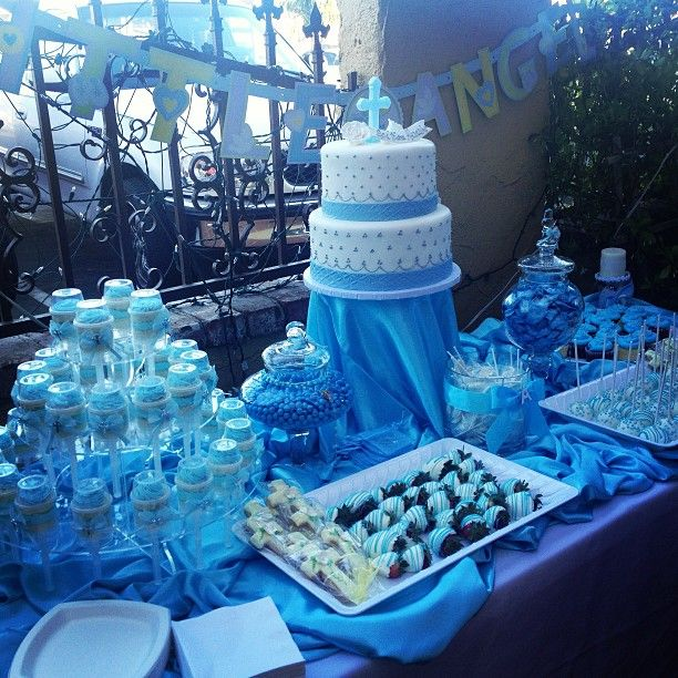 Cake Table Decoration For Christening : 72 best images about Boys Baptism on Pinterest Baptism ...
