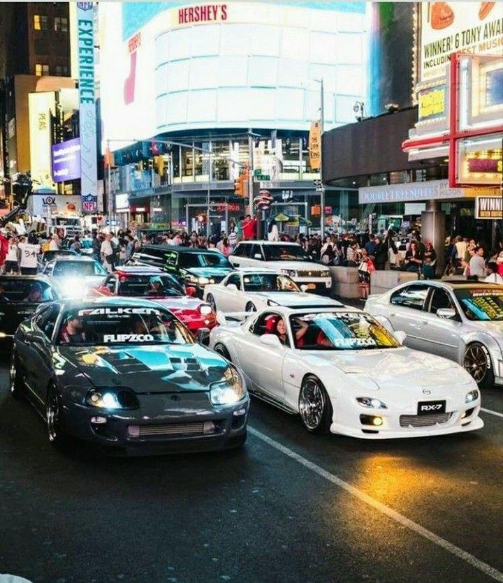 Car Meet In Japan Jdm Cars Street Racing Cars Tuner Cars