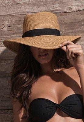 classic woven beach hat