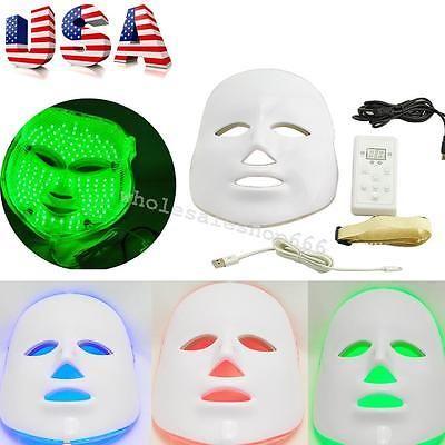 From US 3 LED Light Photon LED Facial Mask Skin Rejuvenation Facial Salon Device
