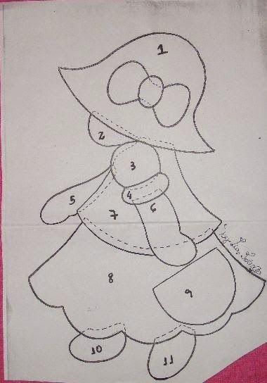 Entretelas y patchwork: Muñeca Sue