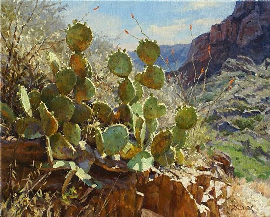 Window Cactus by Mark Haworth Oil ~ 16 x 20