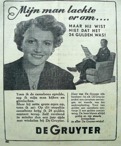 de Gruyter krant 1949.