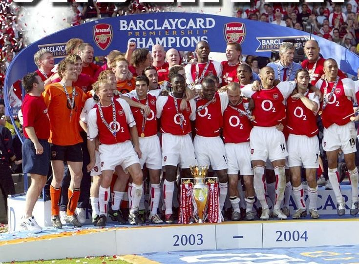 2003-2004 CHAMPIONS!!!! They went 49 games in a row unbeaten