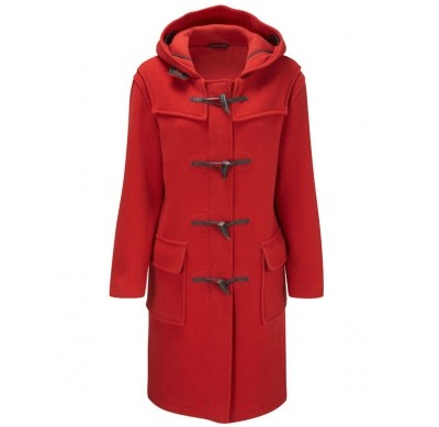 red wool duffle coat - classic!