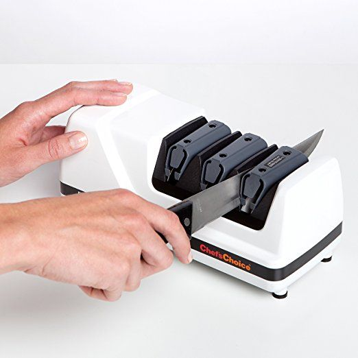 Electric knife sharpener! Expensive but sounds like it actually works...