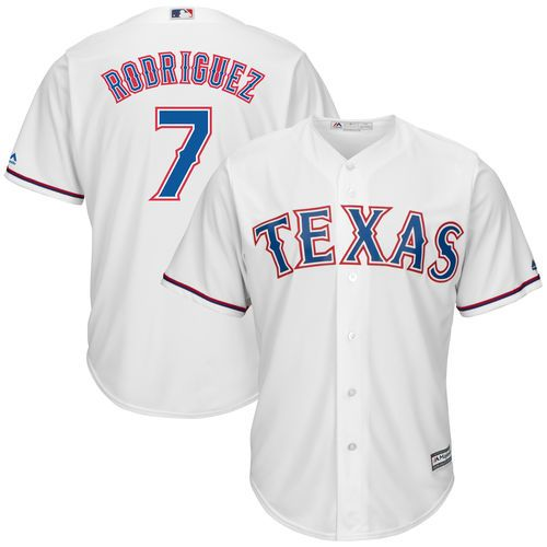 Ivan Rodriguez Texas Rangers Majestic Home Official Cool Base Replica Player Jersey - White