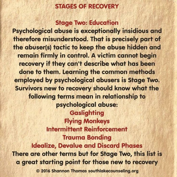 Stages of recovery- 2