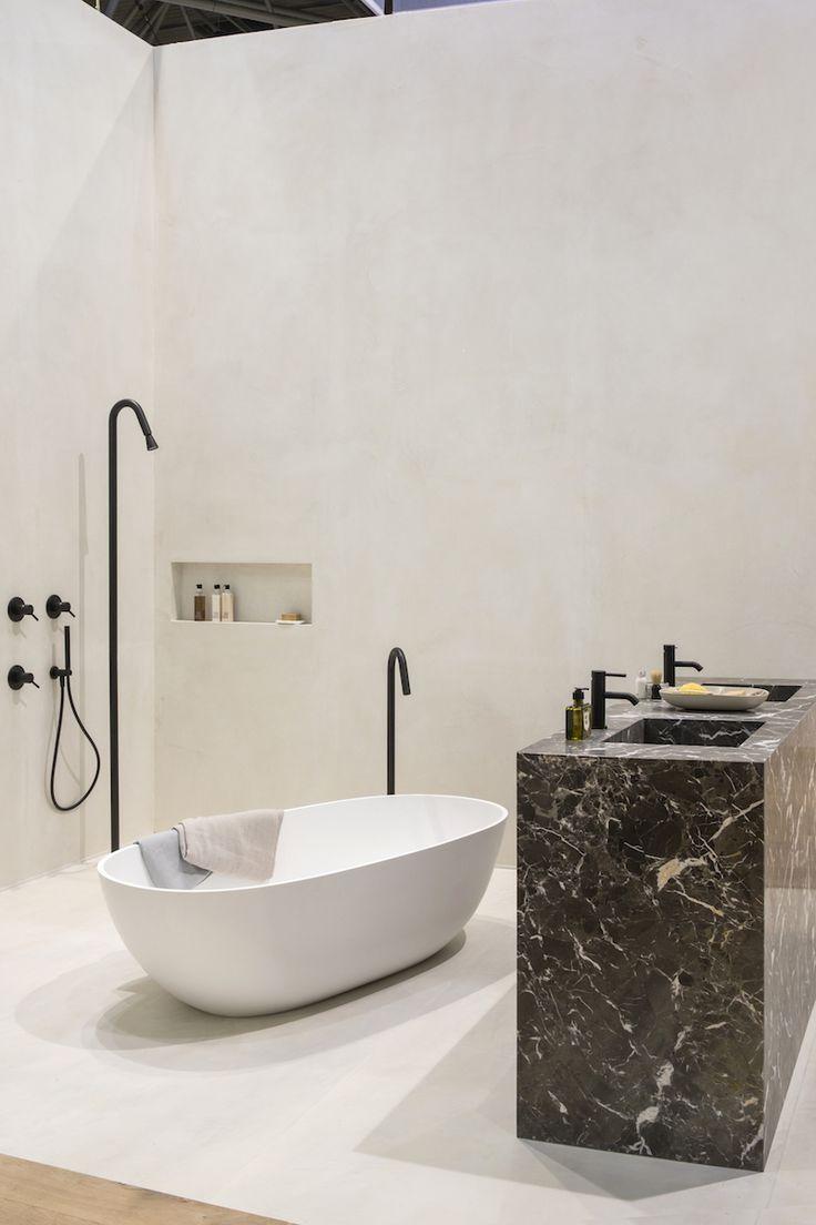 17 beste idee n over zwarte wastafel op pinterest keuken styling zwevende planken keuken en - Keramische inrichting badkamer ...