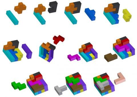 Pentomino puzzle - 3D example solution
