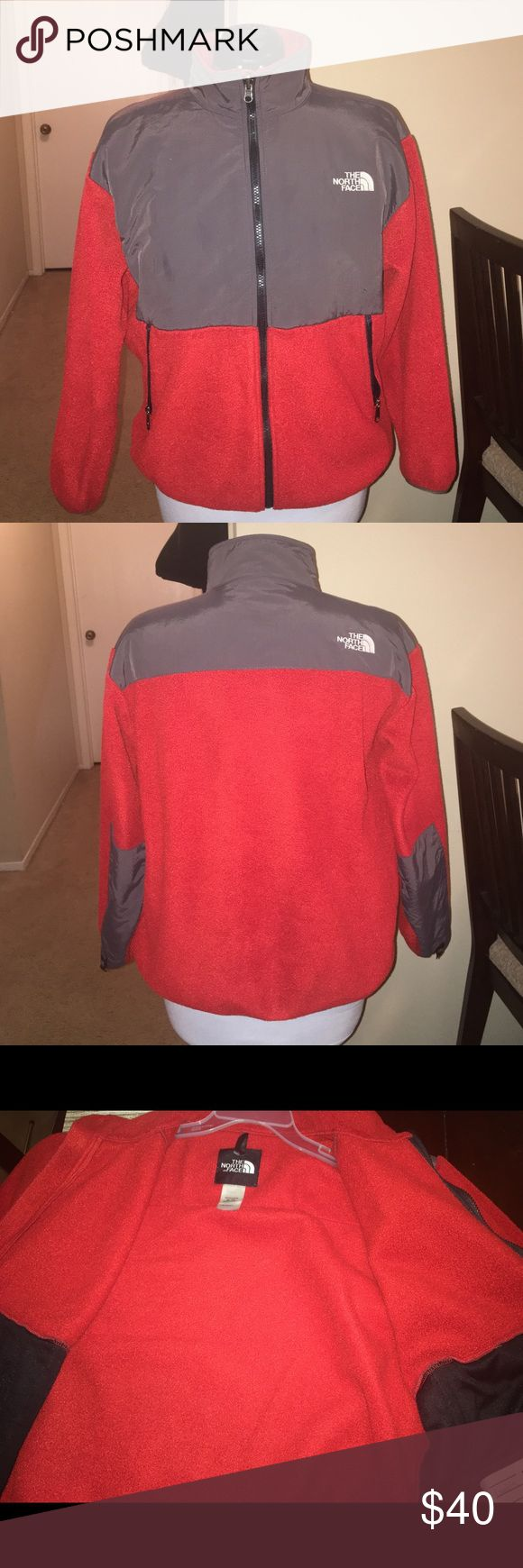 Boys North Face Jacket, Size XL Boys Blood Orange Red North Face Jacket, Size XL, no holes, rips, or tears. Could also be equivalent to a Women's M or Girls XL. The North Face Jackets & Coats