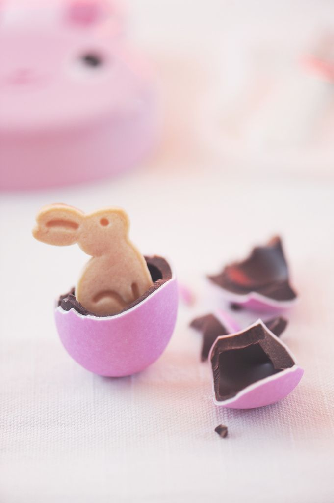 bunny in chocolate egg... How sweet is that!
