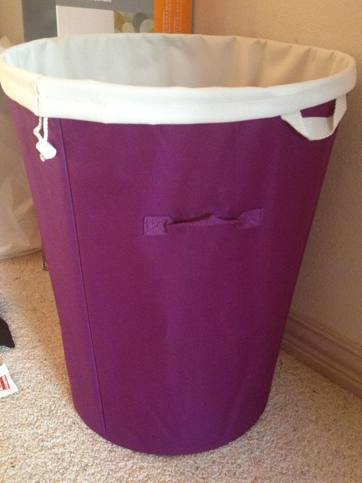 Plum Colored Laundry Hamper With Removable Beige Laundry Bag Inside Part 69
