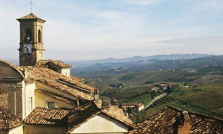 Rooftops and landscape, Barolo, Langhe, Italy. Photograph: Paolo Negri/Getty Images
