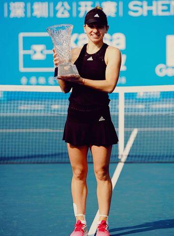Simona Halep   Shenzhen Open 2015 Champion def. Timea Baczinsky 6-2, 6-2 #WTA #Halep #Shenzhen