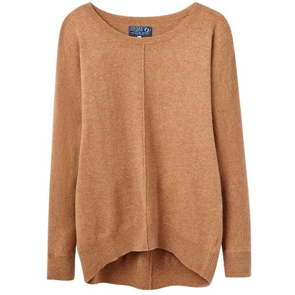Women's Joules Kiara Dropped Shoulder Sweater (776.005 IDR) ❤ liked on Polyvore featuring tops, sweaters, shirts, slouchy sweater, textured sweater, scoop neck shirt, slouch sweater and three quarter sleeve shirts
