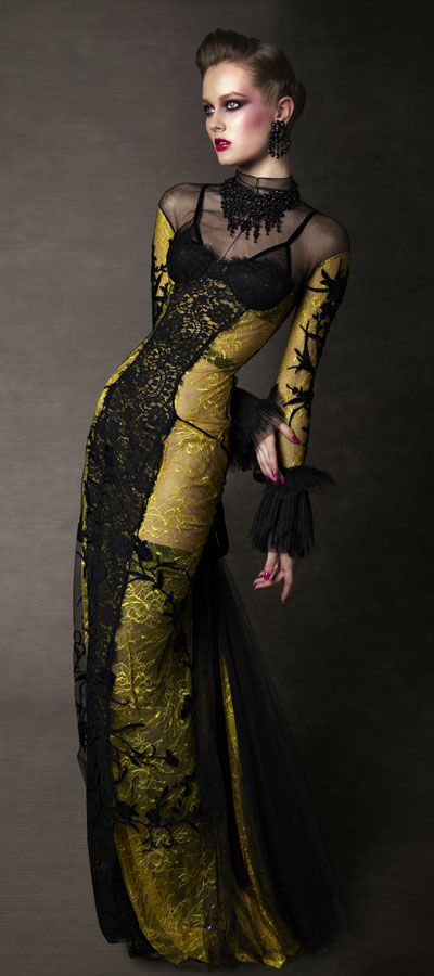 """Tom Ford -- Fall/Winter 11 RTW -- beautiful. I would wear this to a Masquerade Ball, instead of the traditional Ball Gowns, that tend to be more """"poofy."""""""