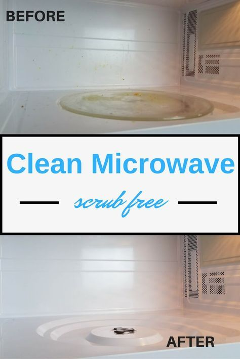 The secret tip for how to clean your microwave without scrubbing - great kitchen cleaning idea!
