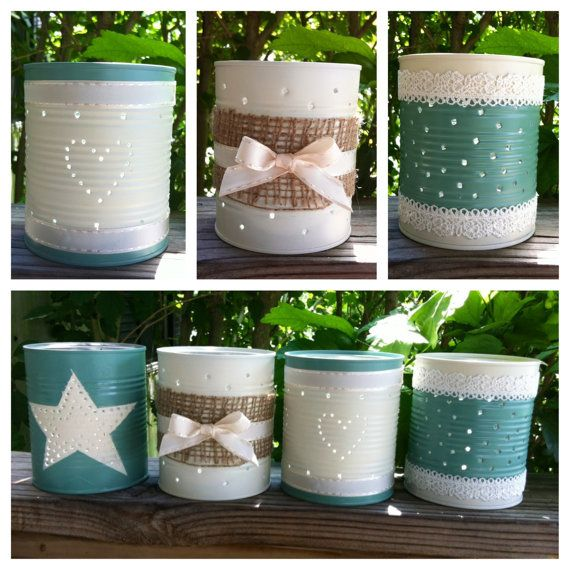 Tin can candle holders made from recycled by BeccaJeansBoutique, $6.00