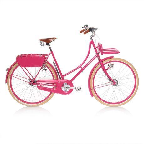 Fahrrad mit Träger und Korb Vorderansicht