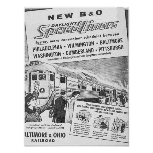 new b o budd built daylight speedliners posters sold the daylight speedliner was a. Black Bedroom Furniture Sets. Home Design Ideas