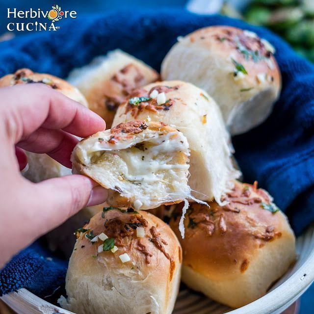 Pflanzenfresser Cucina: Knoblauch-Käse-Brot-Bomben   – <EAT THIS> Breads, Biscuits,  'n Rolls